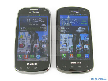 With the Stratosphere (right) - Samsung Galaxy Stratosphere II Review