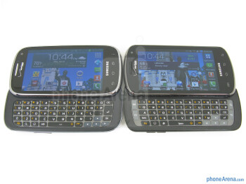 With the Stratosphere (right) - The keyboard on the Samsung Galaxy Stratosphere II - Samsung Galaxy Stratosphere II Review