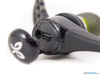 The microUSB port is accessible behind a plastic lid - Jaybird Bluebuds X Review