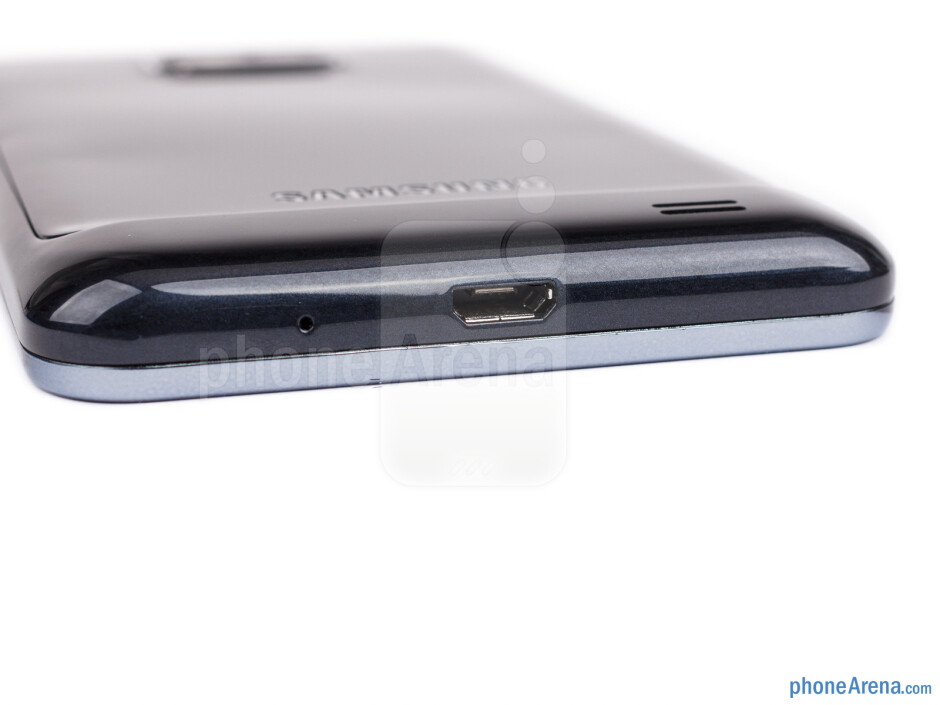 microUSB port (bottom) - The sides of the Samsung Galaxy S II Plus - Samsung Galaxy S II Plus Preview