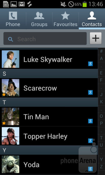 Contacts - Samsung Galaxy S II Plus Preview