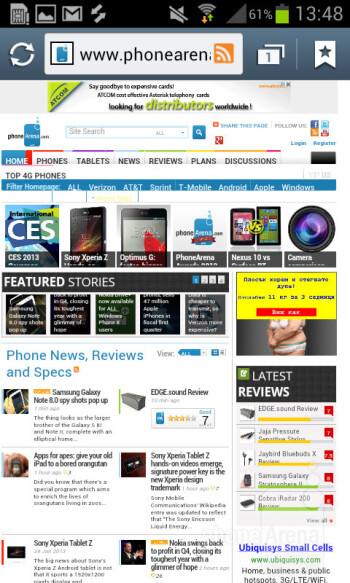 The Samsung Galaxy S II Plus comes with a stock web browser - Samsung Galaxy S II Plus Preview