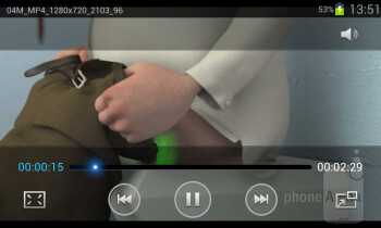 Video player - Samsung Galaxy S II Plus Preview