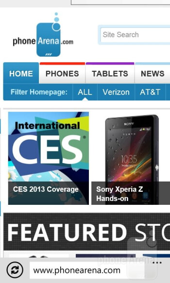 Internet browsing - Samsung ATIV Odyssey Review