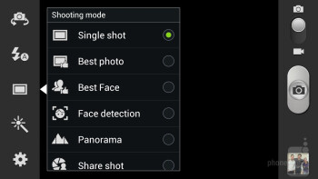 There are lots more image adjustments that can be made in Note II's and S III's interface - Camera Comparison: Samsung Galaxy Camera vs Galaxy S III, Galaxy Note II, iPhone 5, Nokia 808 PureView