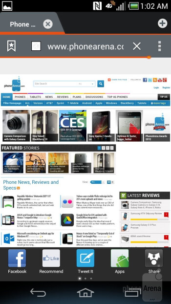 Web browser of the Pantech Discover - Pantech Discover Review