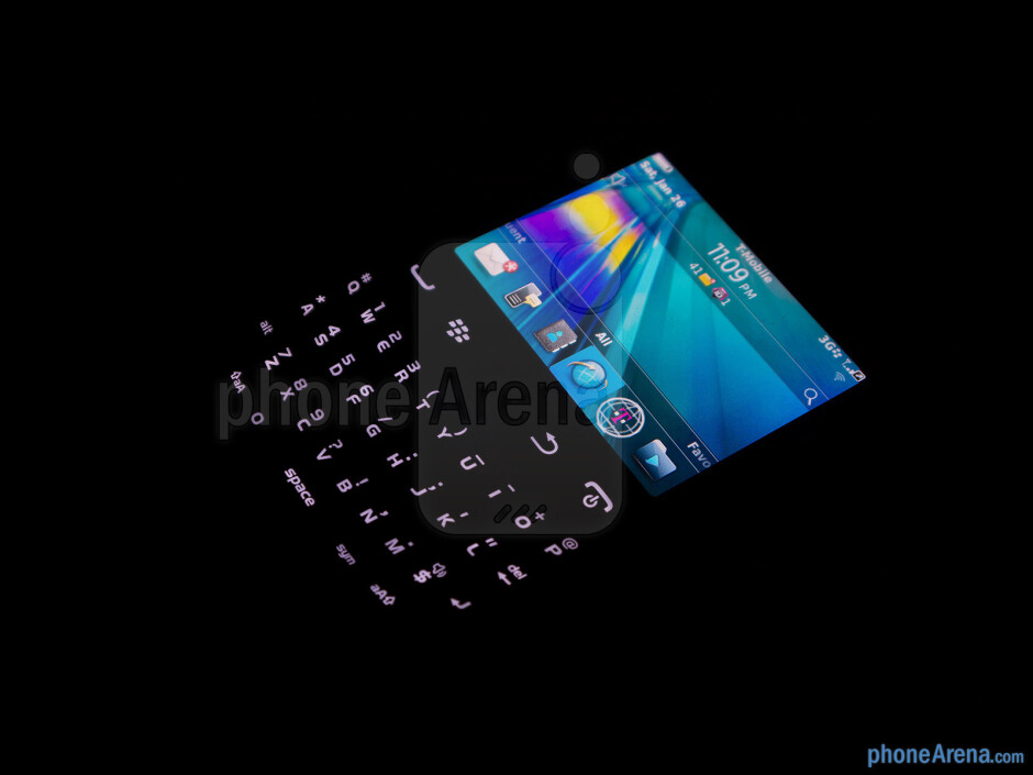 Keyboard of the RIM BlackBerry Curve 9315 - RIM BlackBerry Curve 9315 Review