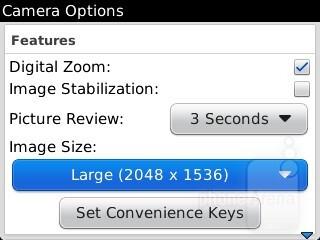 Camera interface - RIM BlackBerry Curve 9315 Review
