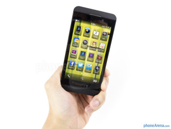 The BlackBerry Z10 is donning an all-plastic minimalistic construction - BlackBerry Z10 Review
