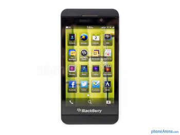 The 4.2-inch 768 x 1280 LCD screen on the BlackBerry Z10 - BlackBerry Z10 Review