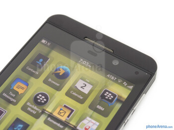 Front camera - BlackBerry Z10 Review