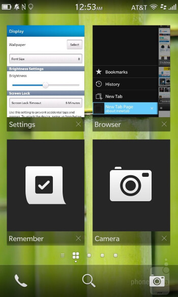 The new UI of BlackBerry OS 10 - BlackBerry Z10 vs Apple iPhone 5