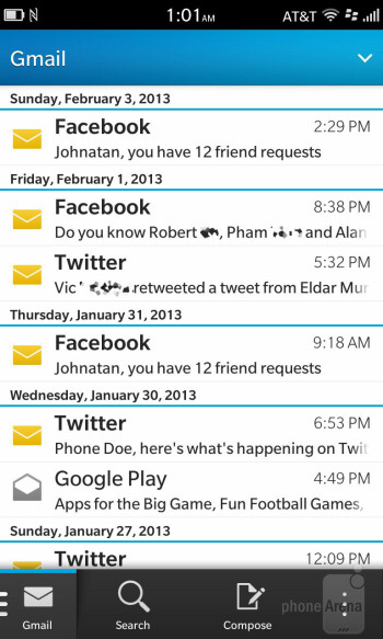 Email - BlackBerry 10 Review