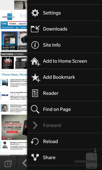 The BlackBerry 10 web browser - BlackBerry 10 Review