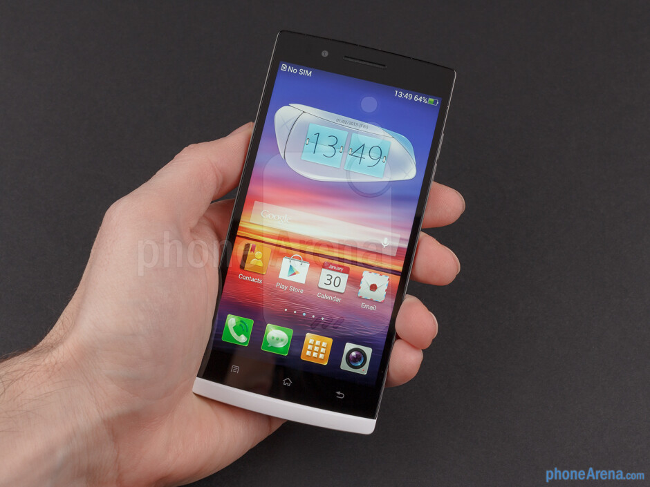 The Oppo Find 5 has a solid unibody housing - Oppo Find 5 Review