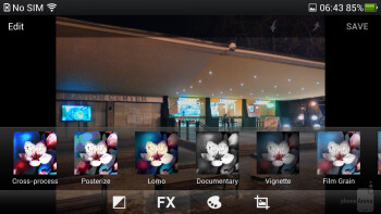The gallery of the Oppo Find 5 is organizer in grid and has a built in image editing app - Oppo Find 5 Review