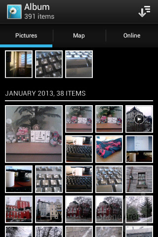 Photos and videos can be viewed from a single Album application - Sony Xperia E dual Review
