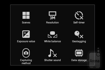 Camera interface - Sony Xperia E dual Review