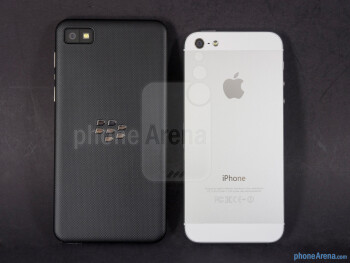 Backs - BlackBerry Z10 vs Apple iPhone 5
