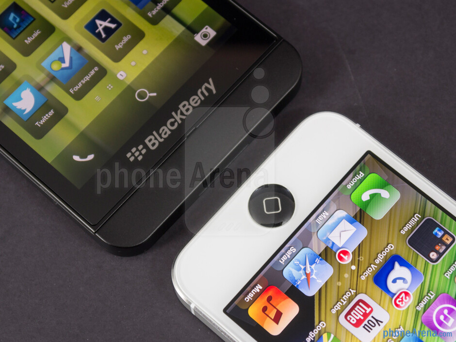 Platform keys - BlackBerry Z10 vs Apple iPhone 5