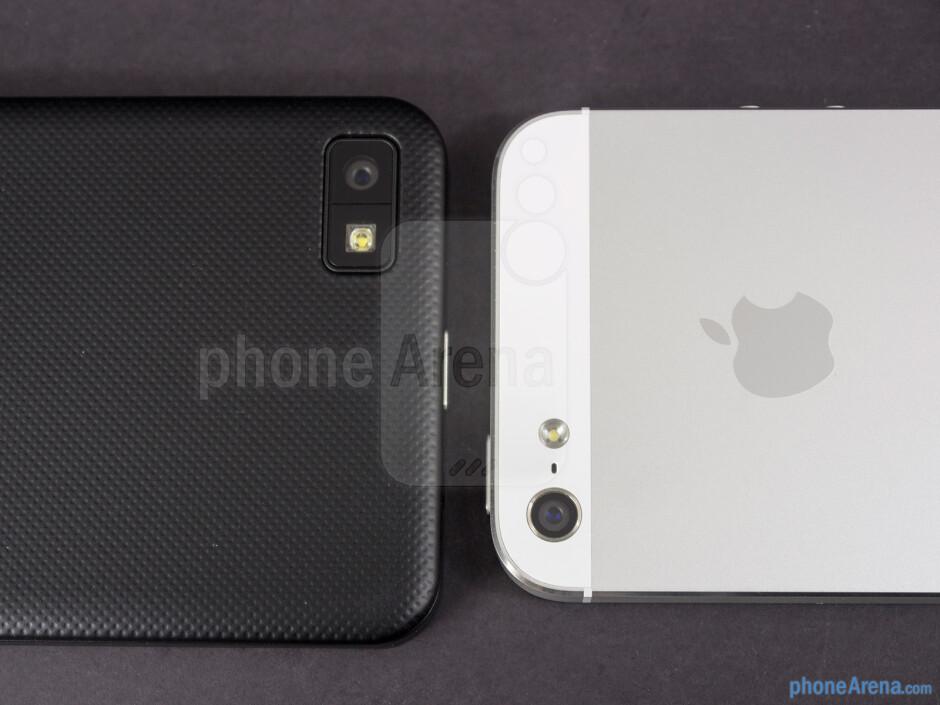 Rear cameras - BlackBerry Z10 vs Apple iPhone 5