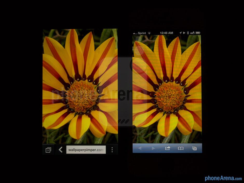 Color production - BlackBerry Z10 vs Apple iPhone 5
