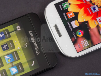 Platform buttons - BlackBerry Z10 vs Samsung Galaxy S III