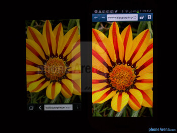 Color production - BlackBerry Z10 vs Samsung Galaxy S III