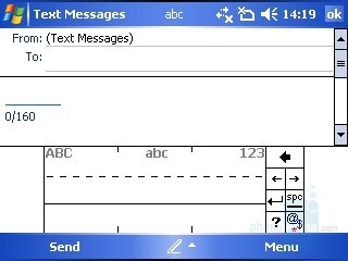Text Entering via the Display - i-mate JAQ3 Review