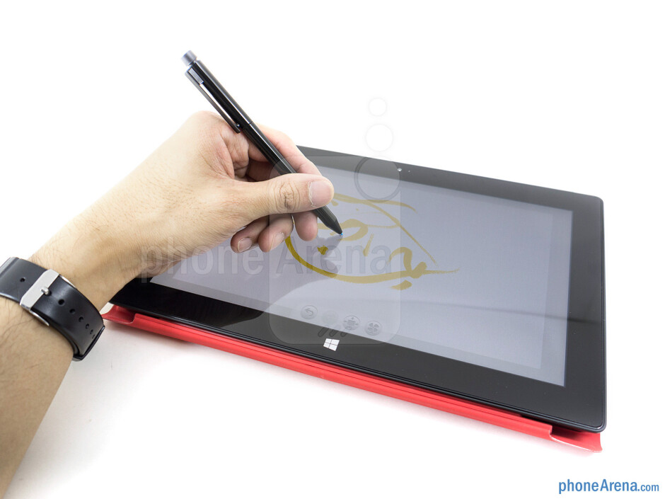 The pressure sensitive stylus of the Microsoft Surface Pro mimics the look of a mechanical pencil - Microsoft Surface Pro Review