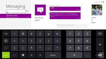 The on-screen Windows 8 keyboard - Microsoft Surface Pro Review