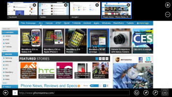 Internet Explorer of the Microsoft Surface Pro - Microsoft Surface Pro vs Apple iPad 4