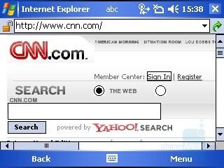 Internet Explorer - i-mate JAQ3 Review