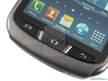 The physical keys are solid and provide a good tactile feedback - Samsung Galaxy Xcover 2 Review