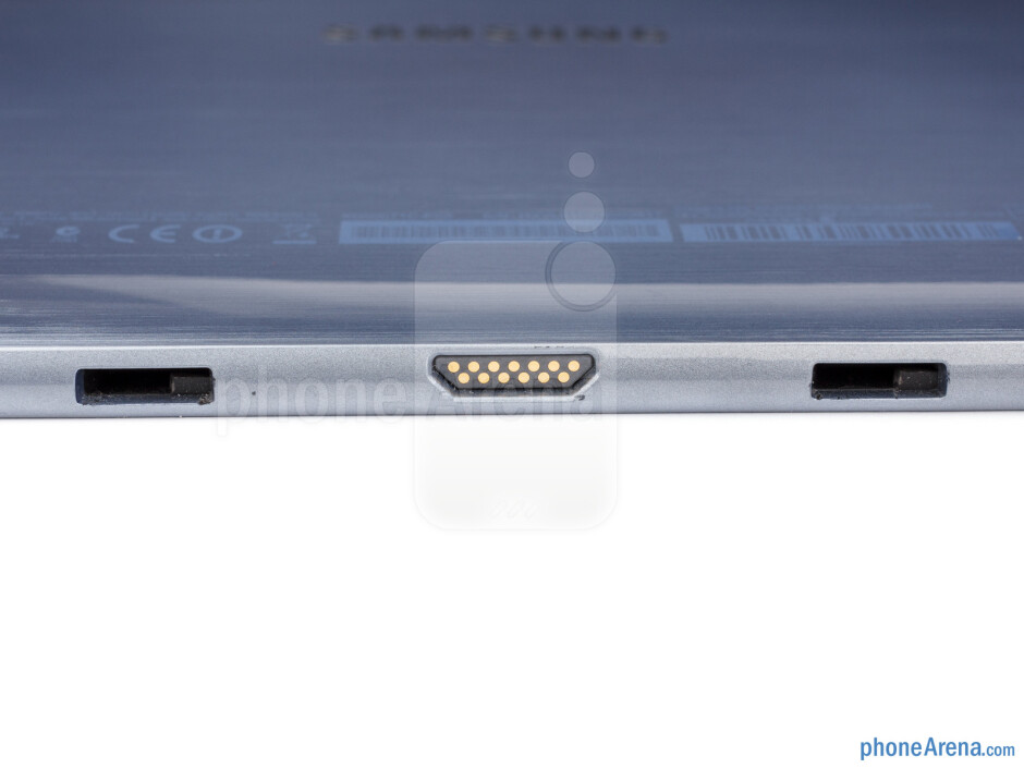 Dock connector and keyboard attachment mechanism openings - Samsung ATIV Smart PC Review