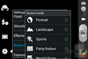 Camera interface - Samsung Galaxy Fame Preview