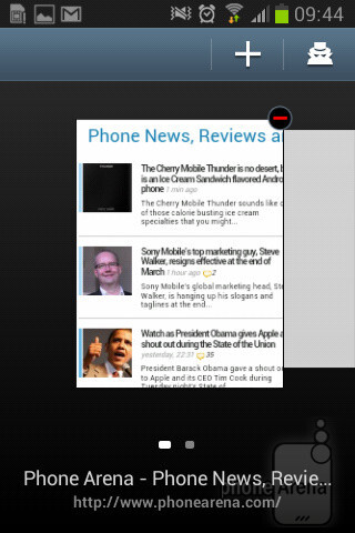 The stock web browser of the Samsung Galaxy Fame - Samsung Galaxy Fame Preview