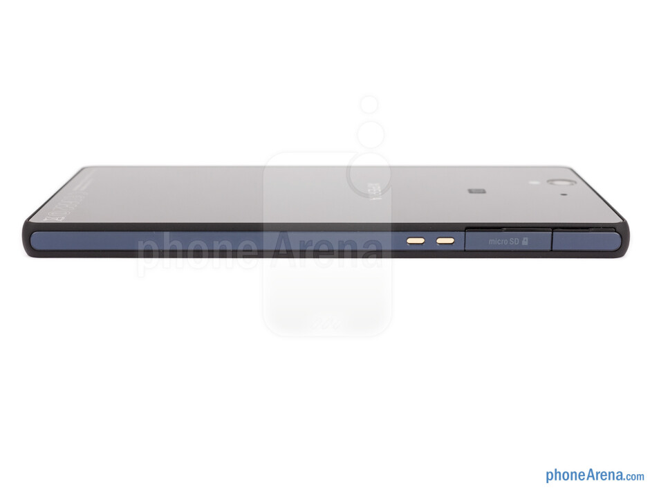 Left - The sides of the Xperia Z - Sony Xperia Z Review