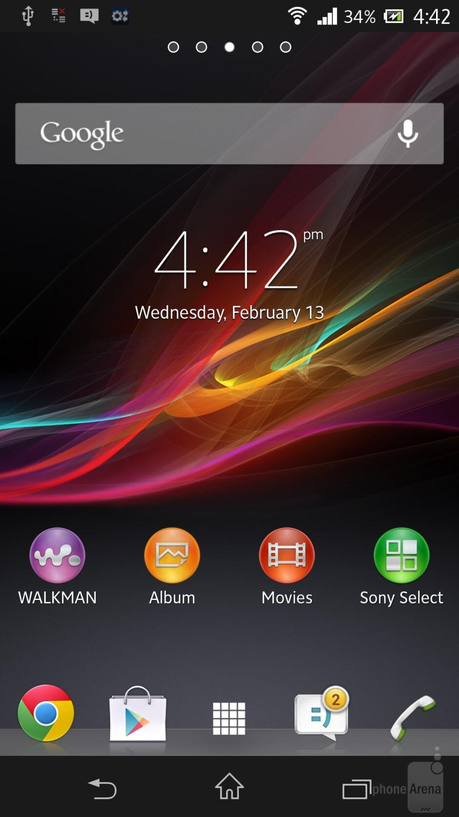 Sony Xperia Z comes straight with Android 4.1.2 Jelly Bean - Samsung Galaxy S4 vs Sony Xperia Z
