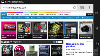 The Xperia Z comes with Chrome as its exclusive tool for surfing the web - LG Optimus G Pro vs Sony Xperia Z