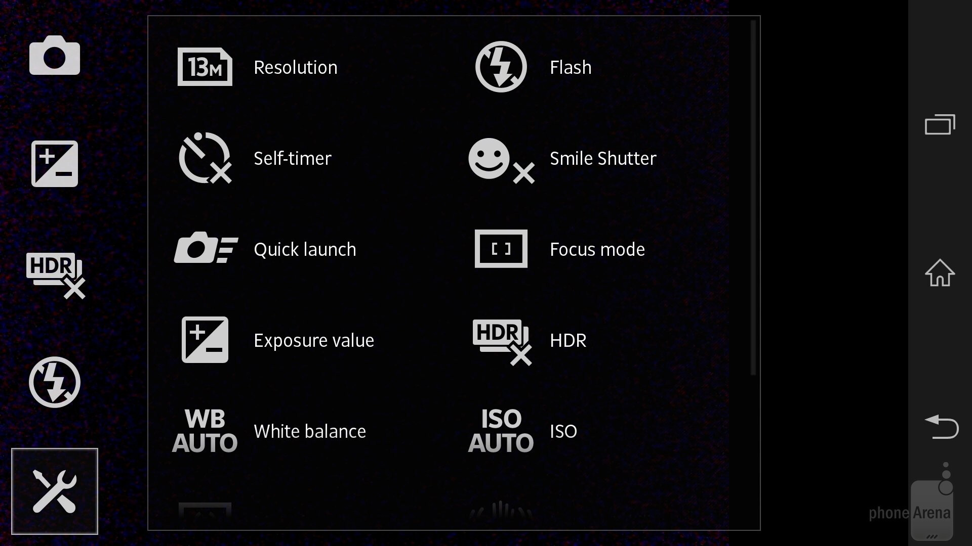 The camera interface of the Sony Xperia Z is simple and optimized - Sony  Xperia Z