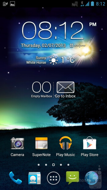 The user interface of the Asus Padfone 2 - Asus Padfone 2 Review