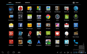 Interface of the Padfone Station - Asus Padfone 2 Review
