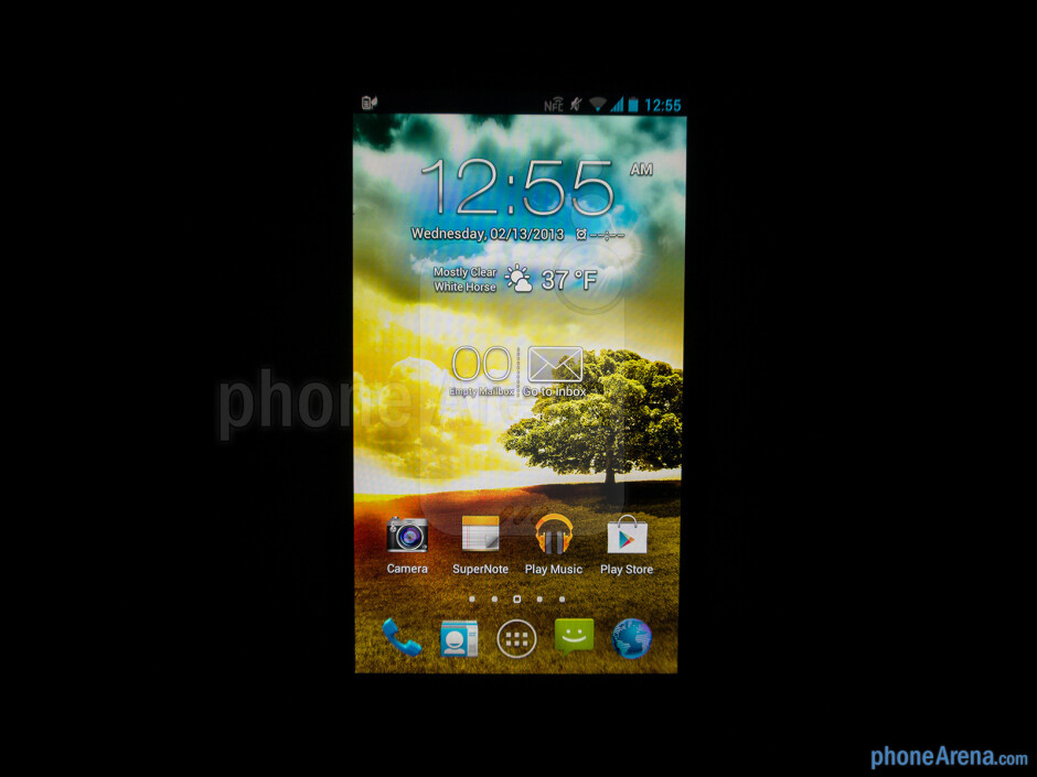 Viewing angles of the Asus Padfone 2 - Asus Padfone 2 Review