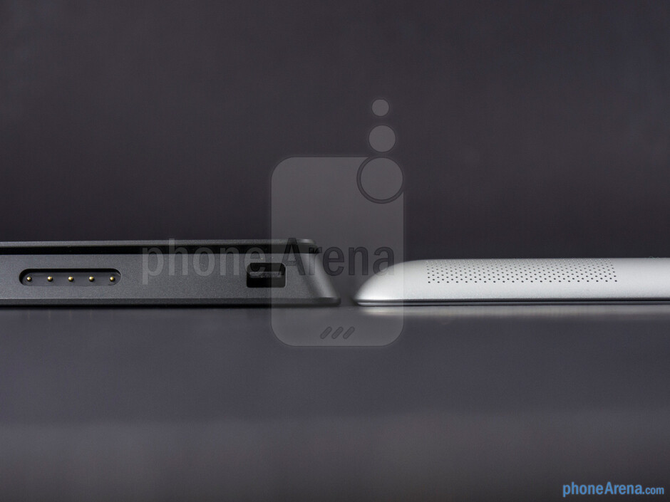 The Microsoft Surface Pro (left) and the Apple iPad 4 (right) - Microsoft Surface Pro vs Apple iPad 4