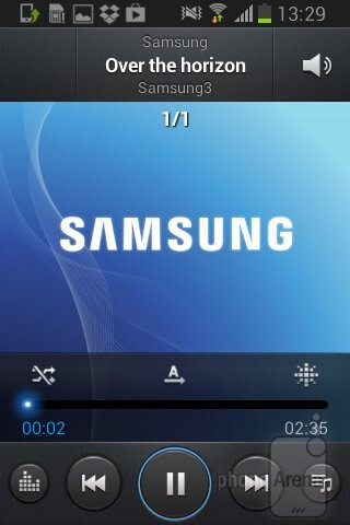 The music player of Samsung Galaxy Young Duos - Samsung Galaxy Young Duos Preview