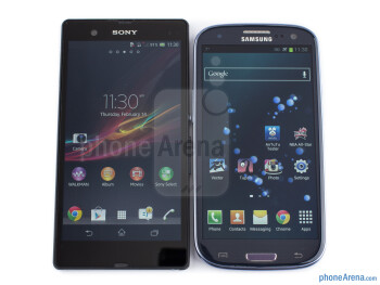 The Sony Xperia Z (left) and the Samsung Galaxy S III (right) - Sony Xperia Z vs Samsung Galaxy S III