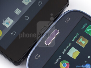Android buttons - The Sony Xperia Z (left) and the Samsung Galaxy S III (right) - Sony Xperia Z vs Samsung Galaxy S III