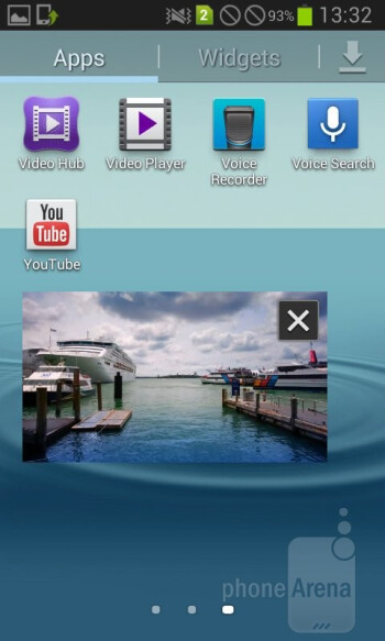 The PopUp Play function - Video player - Samsung Galaxy Grand Duos Review