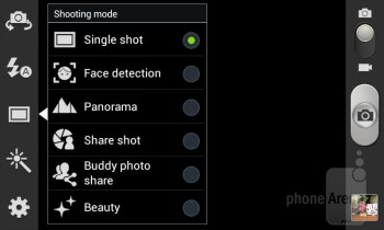 Camera interface - Samsung Galaxy Grand Duos Review